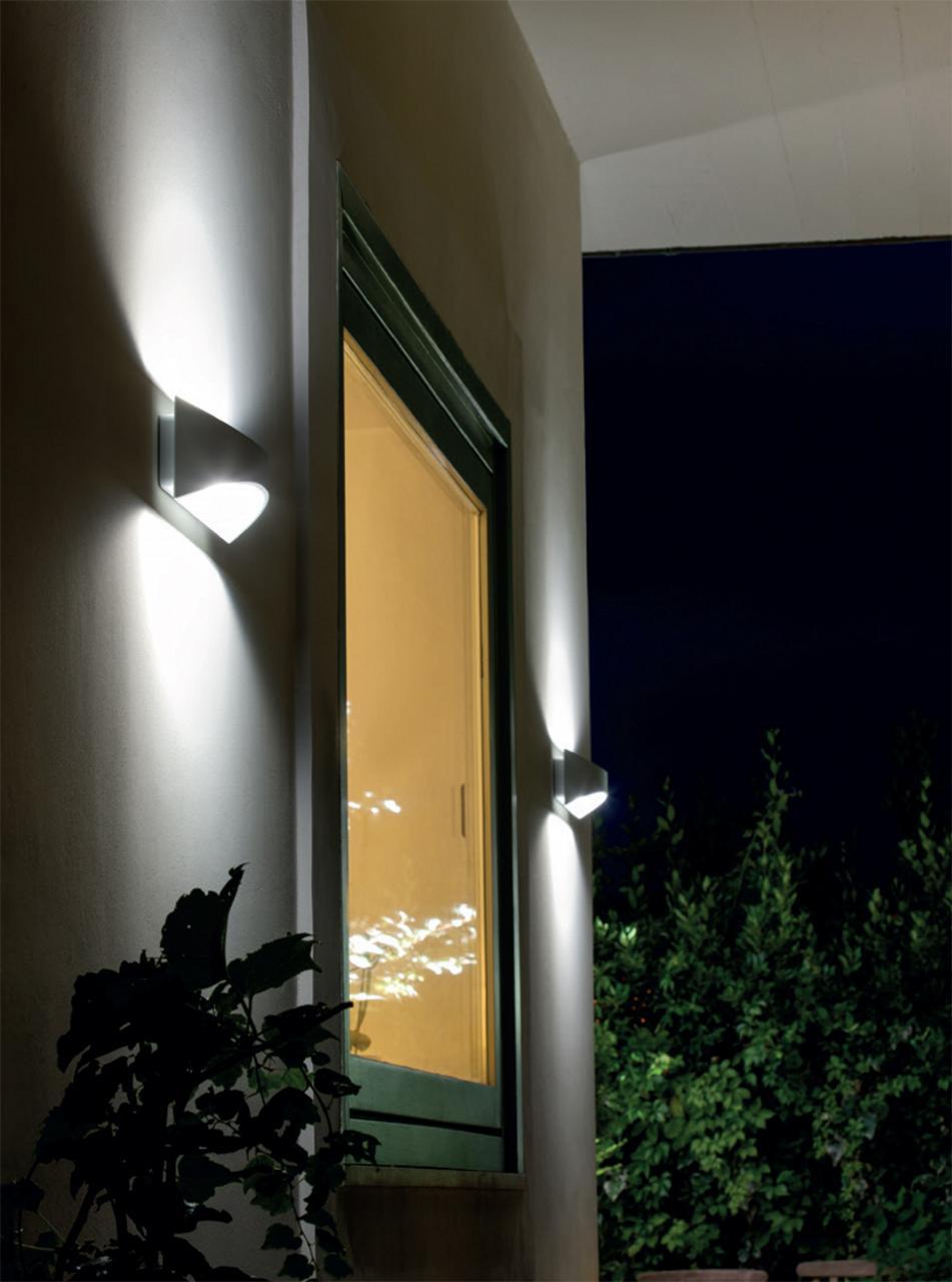 Applique grande riflettente led 12w moon moon art 99108 27 illuminazioni a led da esterno - Plafoniere neon da esterno ...